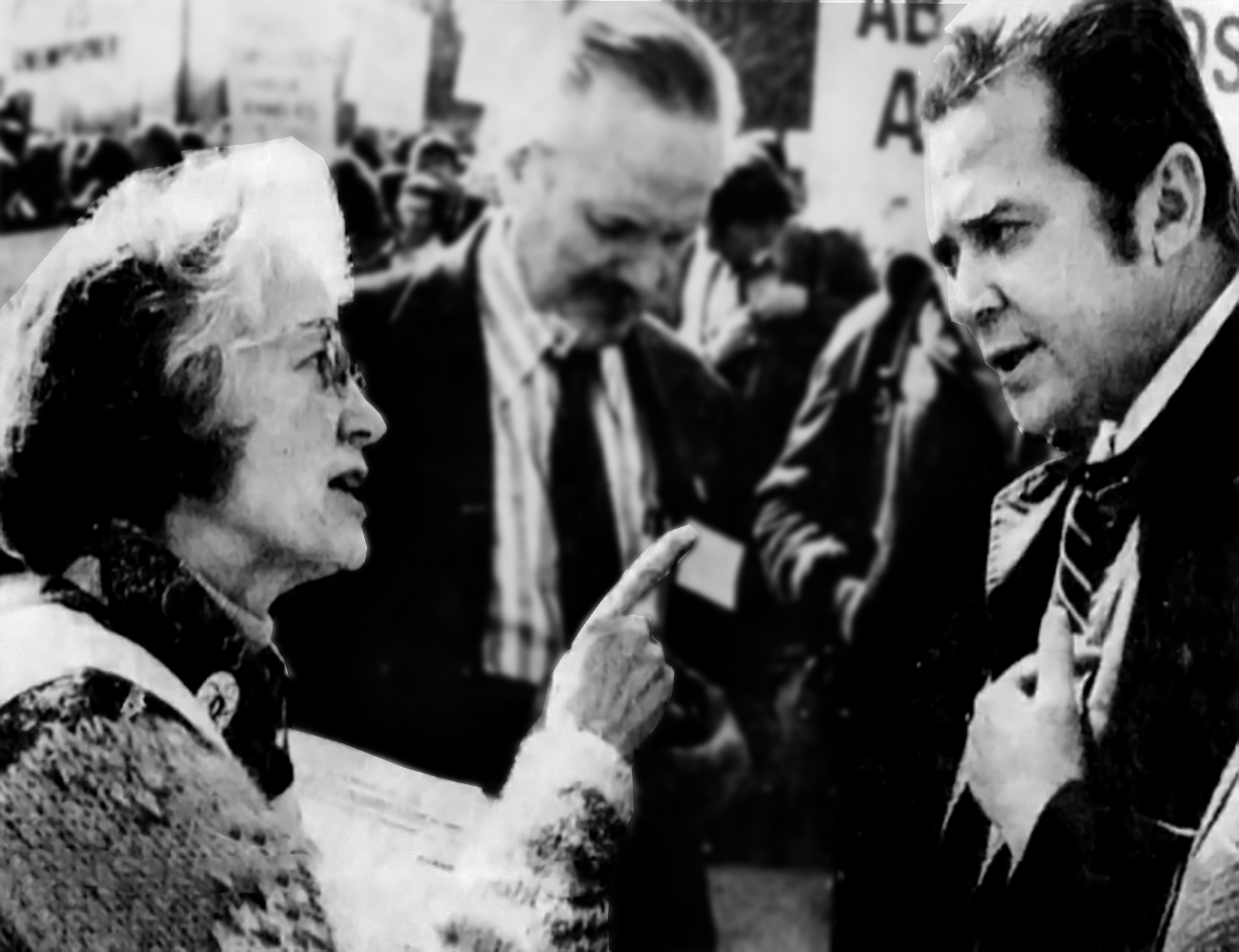 Irene Dickinson confronts nuclear union boss